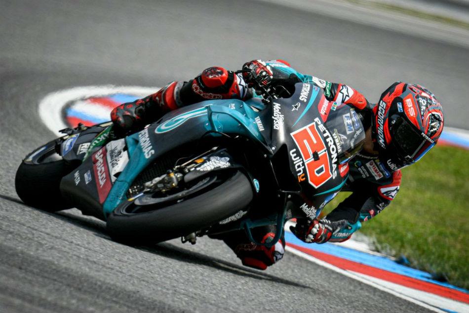 Motogp Quartararo Edges Out Vinales At The Brno Test