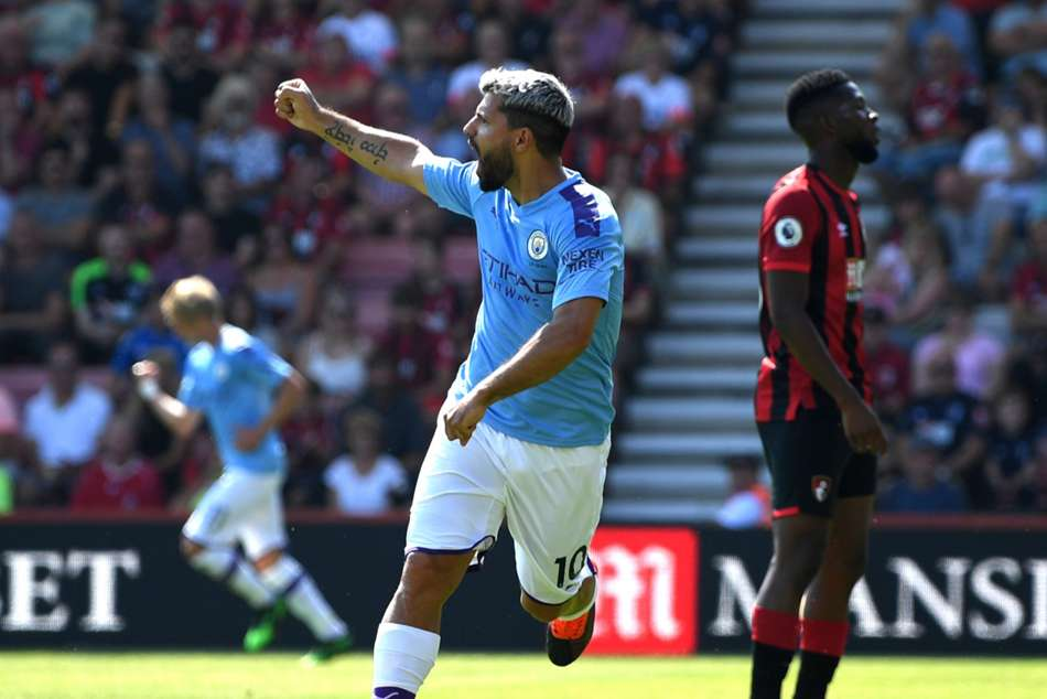 Bournemouth 1-3 Manchester City: Aguero reaches 400 career goals as champions go second
