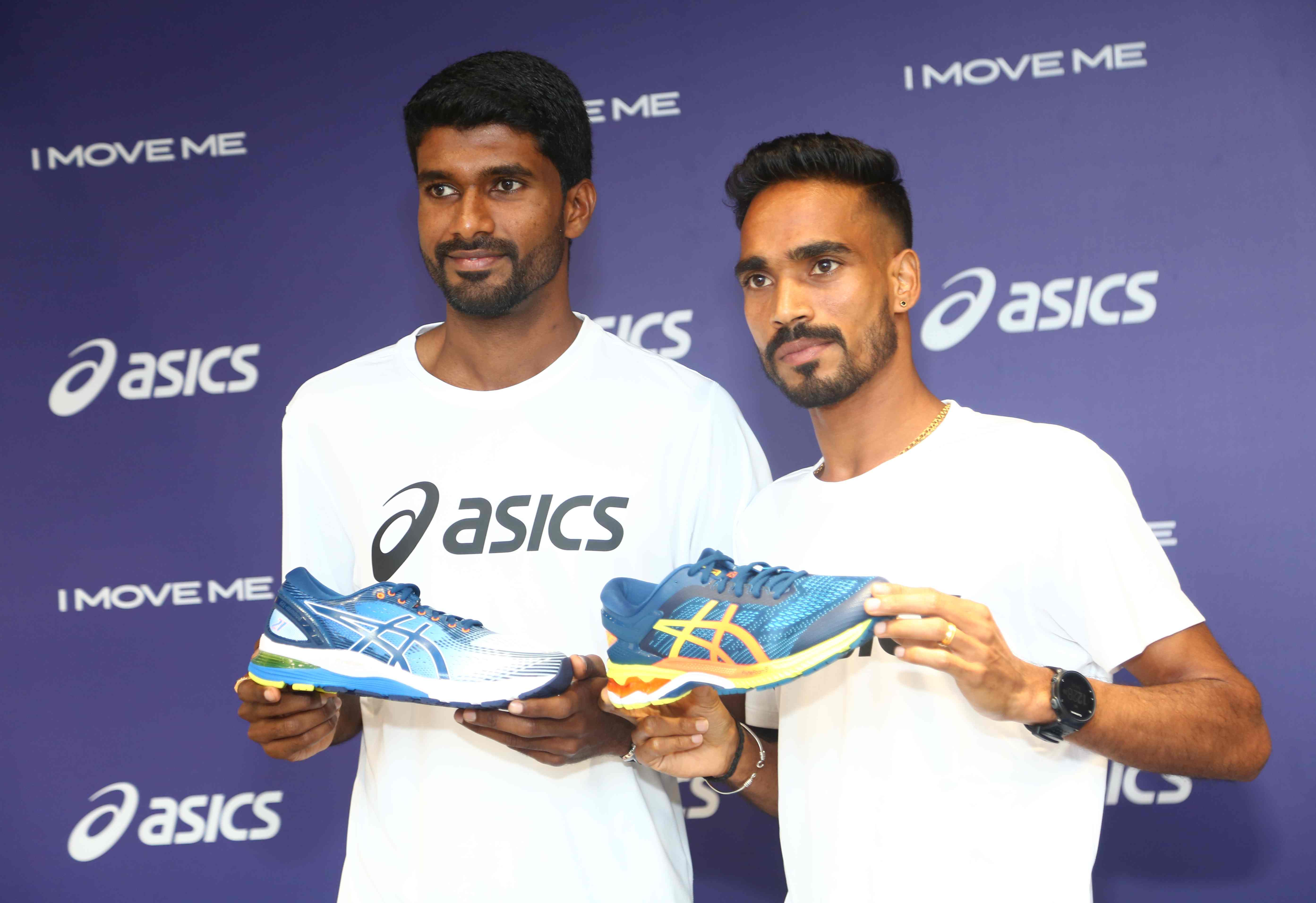 ASICS India announced Jinson Johnson (L) and T. Gopi (R) as their brand athletes at a glittering event in Bengaluru.