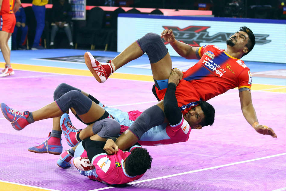 Pkl 2019 Up Yoddha Notch Comfortable Win Over League Leaders Jaipur Pink Panthers