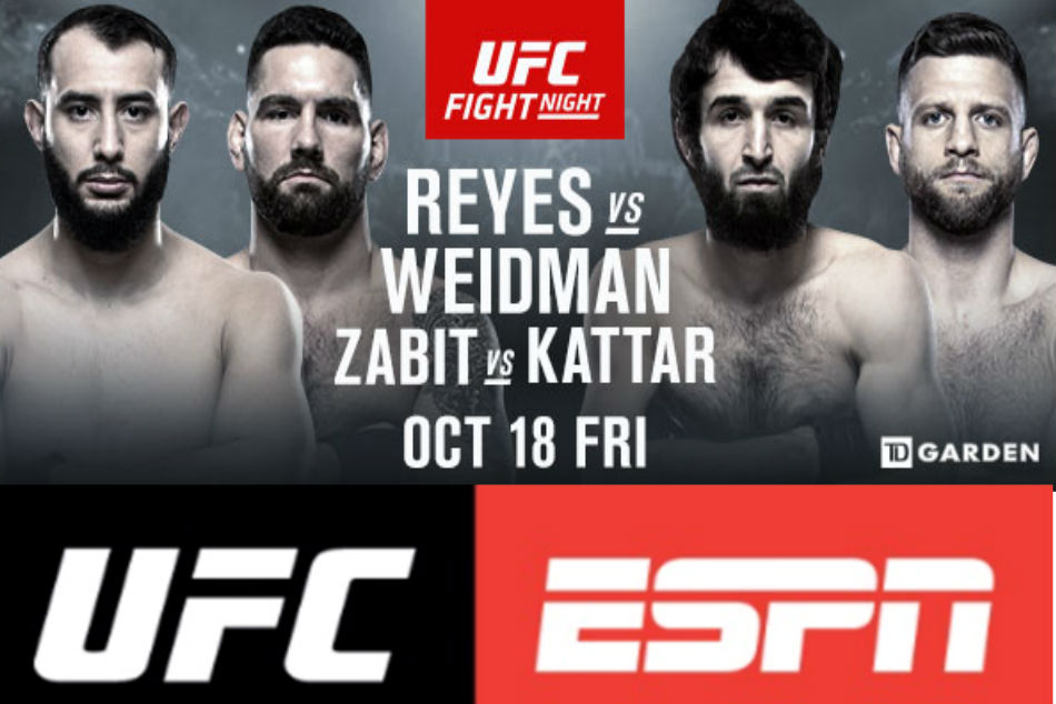 UFC on ESPN 6: Reyes vs. Weidman preview, fight card and schedule