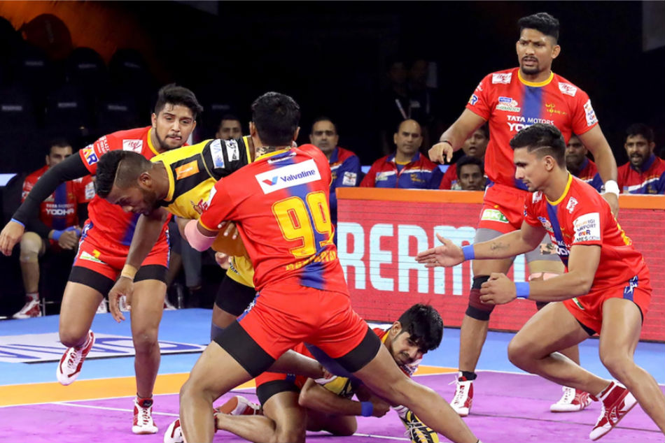 UP Yoddhas defence will be in focus against Bengaluru Bulls raiders (Image Courtesy: Pro Kabaddi)