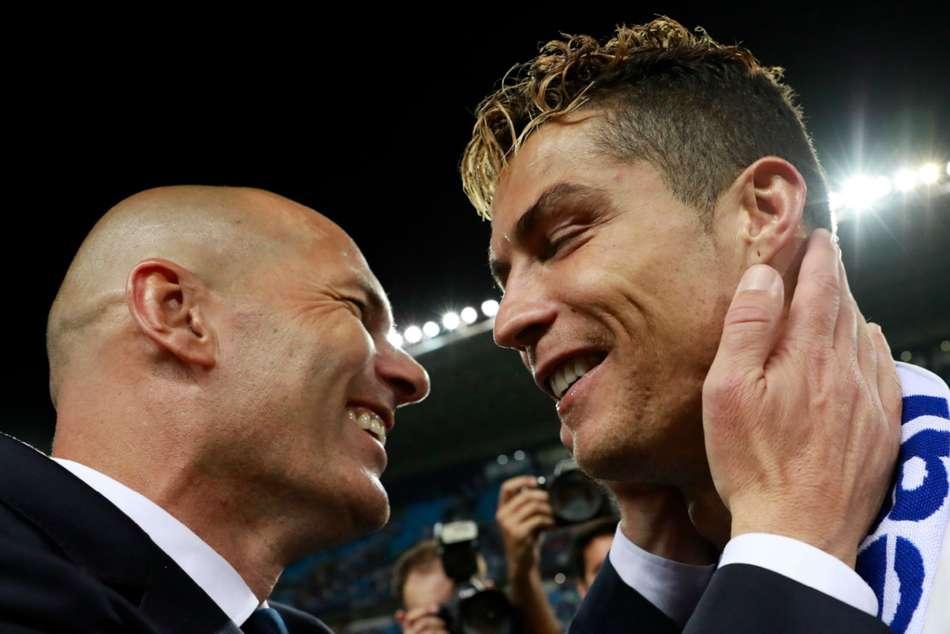 Cristiano Ronaldo Zinedine Zidane Real Madrid Juventus