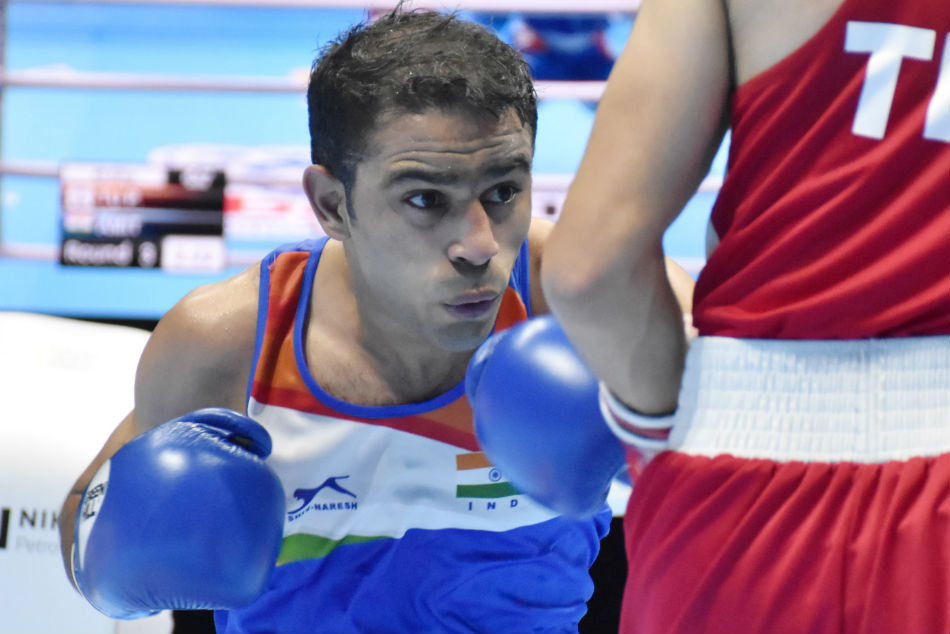 Aiba Men S World Championships Amit Panghal Dominates Opening Bout To Enter Round Of 16
