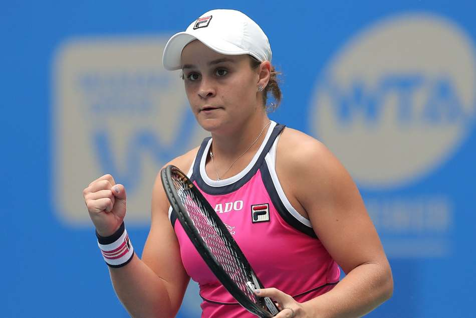 Ashleigh Barty has not yet taken to the practice court