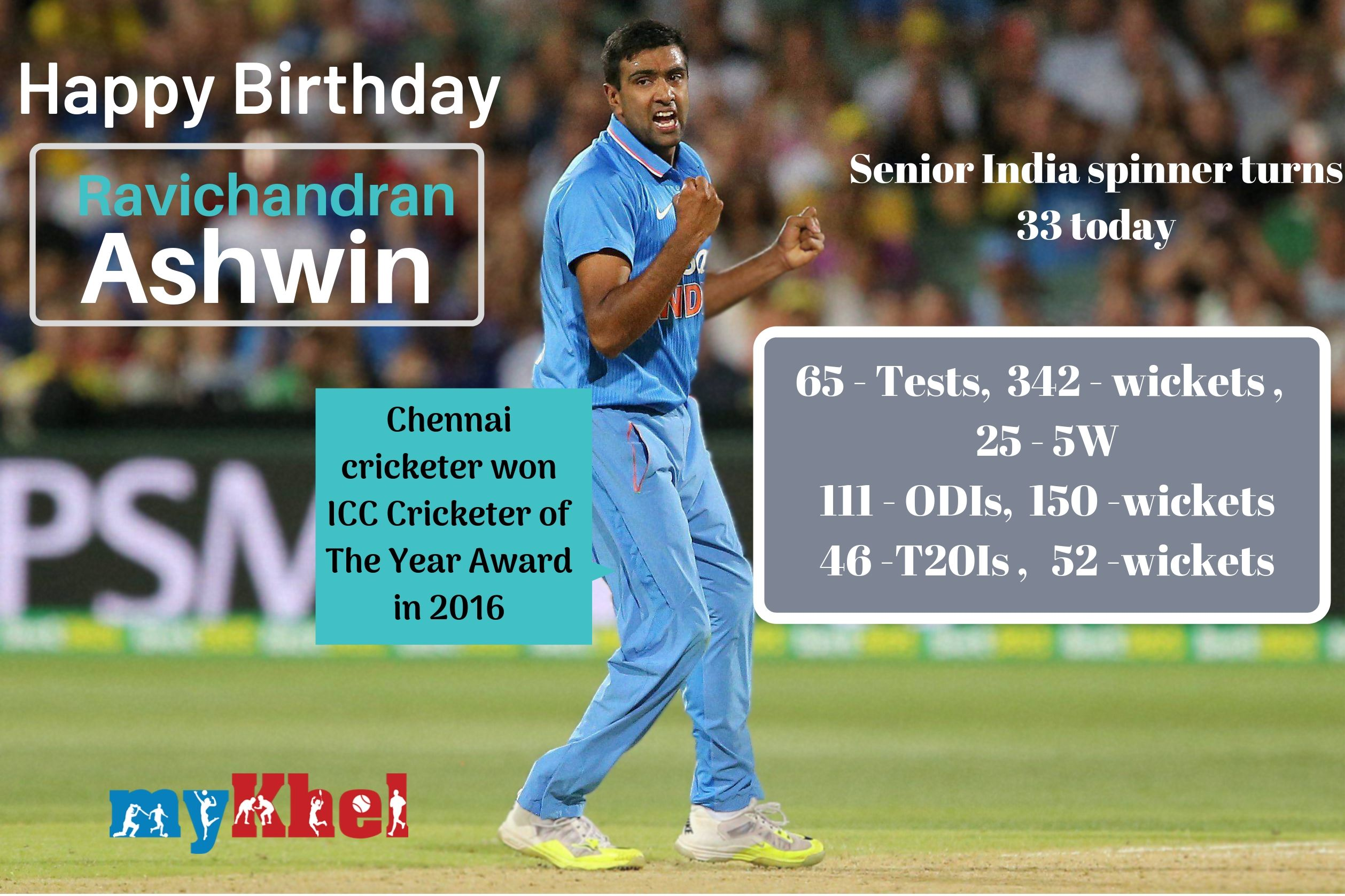 R Ashwin turns 33: Cricketing fraternity and fans greet India off-spinner on his birthday