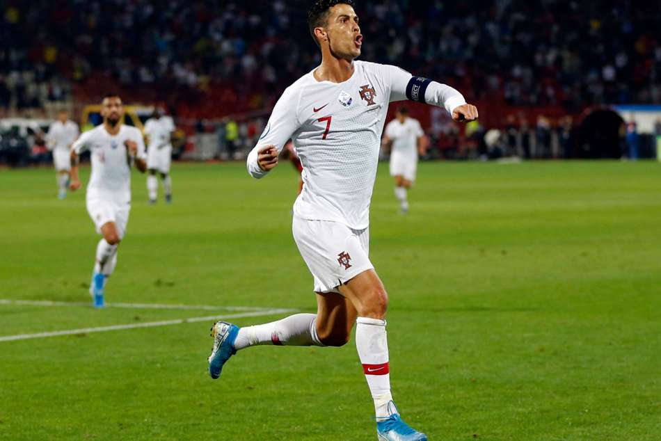 Cristiano Ronaldo scored his eighth international hat-trick for Portugal
