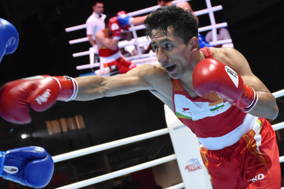 Kavinder Singh Bisht made to work hard for a win at the AIBA Men's World Championships