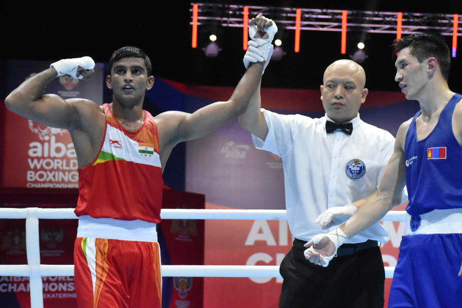Aiba Men S World Championships Amit Panghal Manish Kaushik Sanjeet March Into Quarter Finals