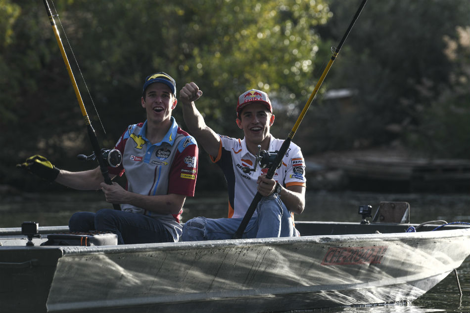 Gone fishing! Marc and Alex Marquez gear up for Aragon