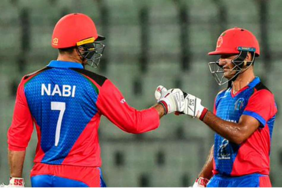Nabi the inspiration as Afghanistan equal Australia's T20 world record