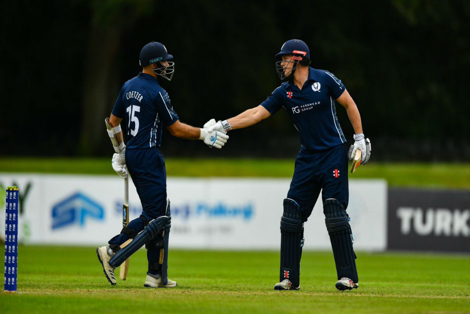 Scotland record third highest T20 stand in win over Netherlands