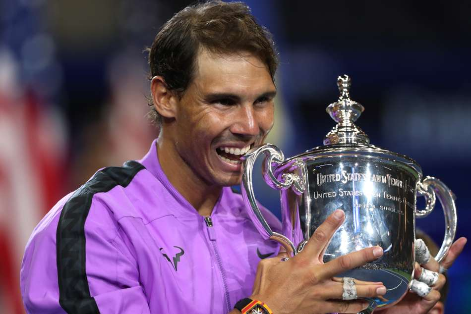 Rafael Nadal clinched his 19th grand slam title