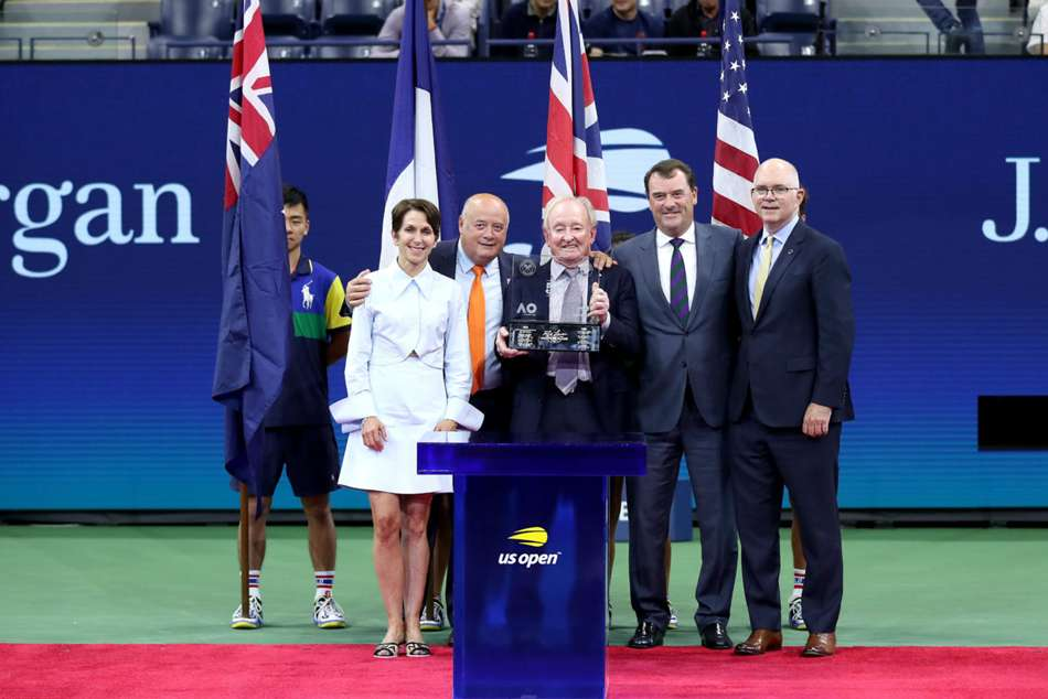 Rod Laver was honoured during US Open