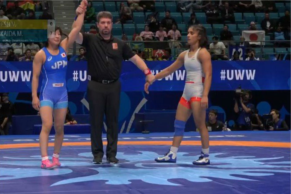 Wrestling World Championships: India's Vinesh Phogat thrashed by Mayu Mukaida of Japan in quarter-final