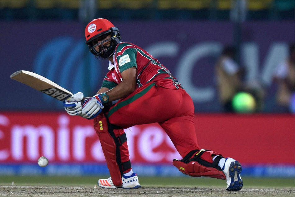 Jatinder Singh helped Oman put up a defendable target against Hong Kong