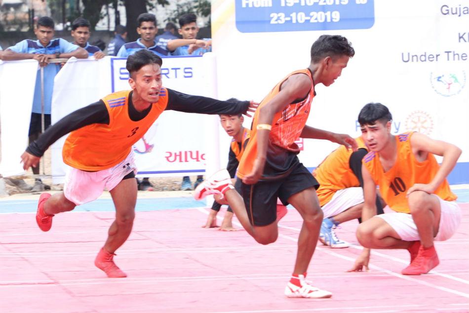 Gujarat and Maharashtra cruise into the quarter-finals of 39th Junior Kho Kho Nationals