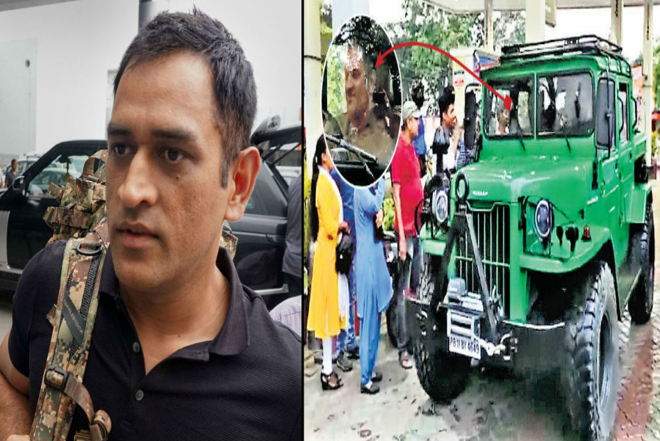 MS Dhoni spotted driving Nissan Jonga on Ranchi roads, shows his love for Indian Army