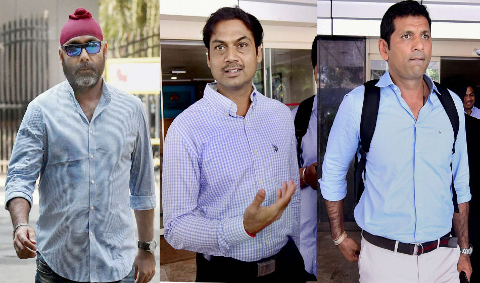 BCCI selection committee members Sarandeep Singh, MSK Prasad and Debang Gandhi