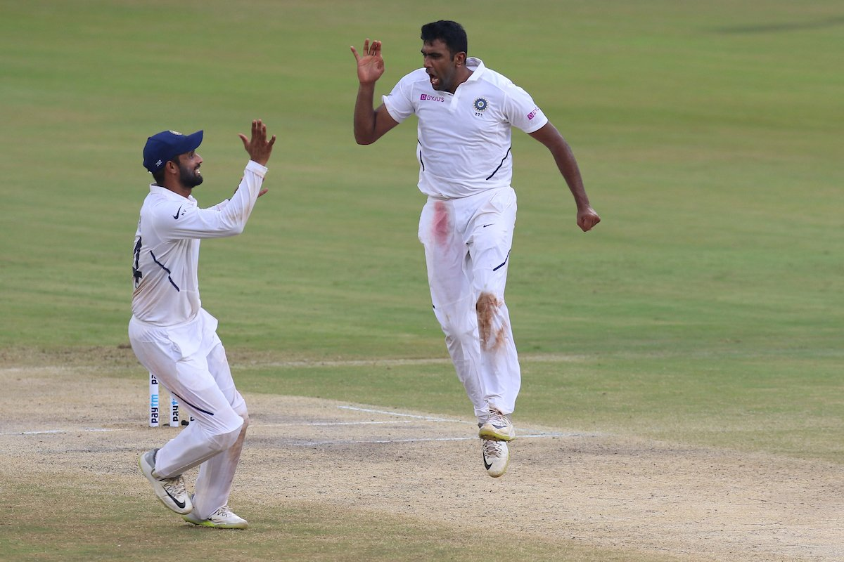 R Ashwin becomes joint-fastest to 350 Test wickets, equals Muttiah Muralitharans record