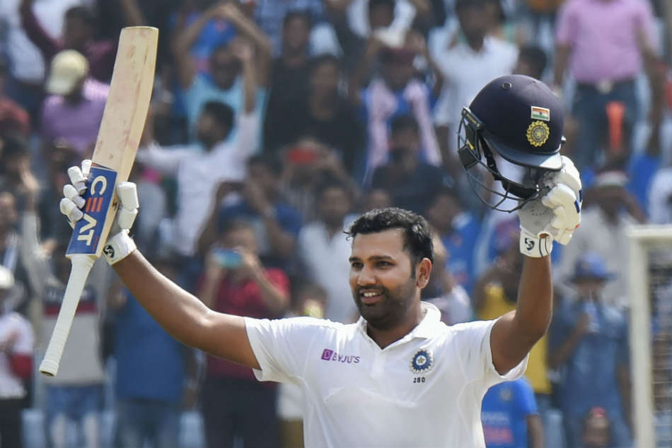 Rohit Sharma led Indias charge with a maiden Test double hundred