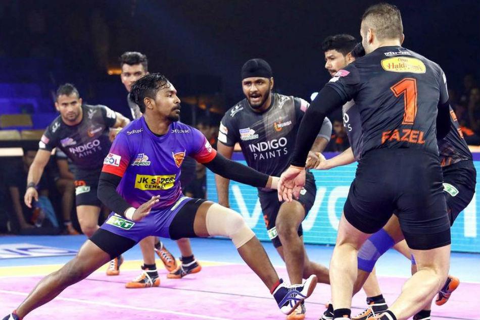 Pro Kabaddi League 2019 Dabang Delhi Tie With U Mumba Match Report