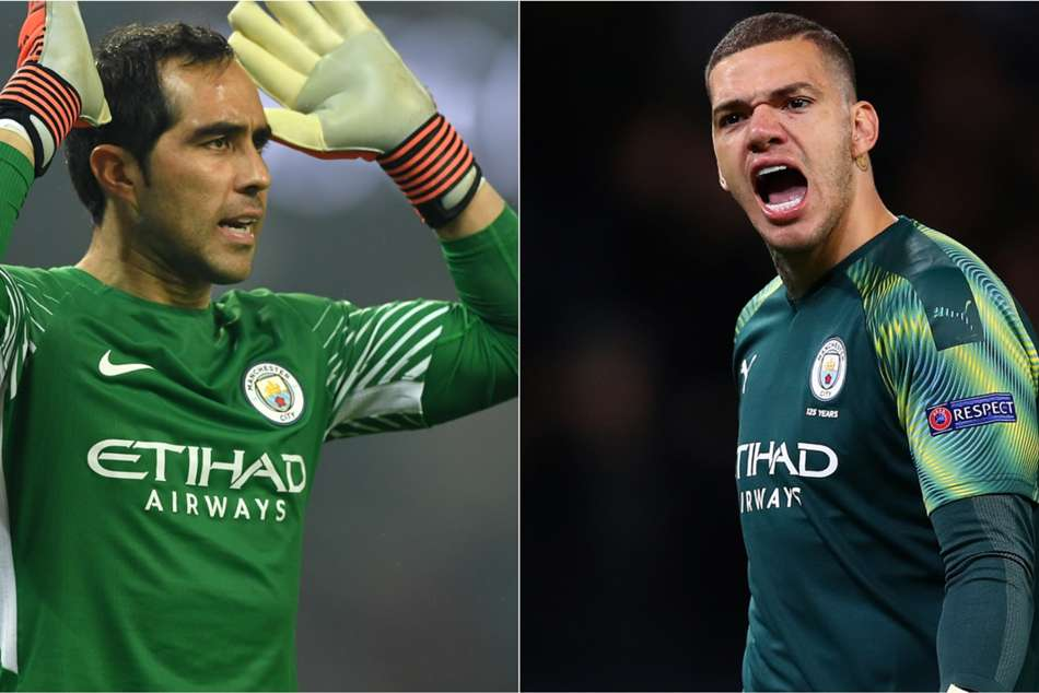 Claudio Bravo and Ederson