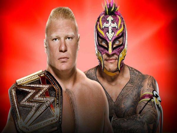 No Holds Barred Match for the WWE Title: Rey Mysterio vs. Brock Lesnar (c)
