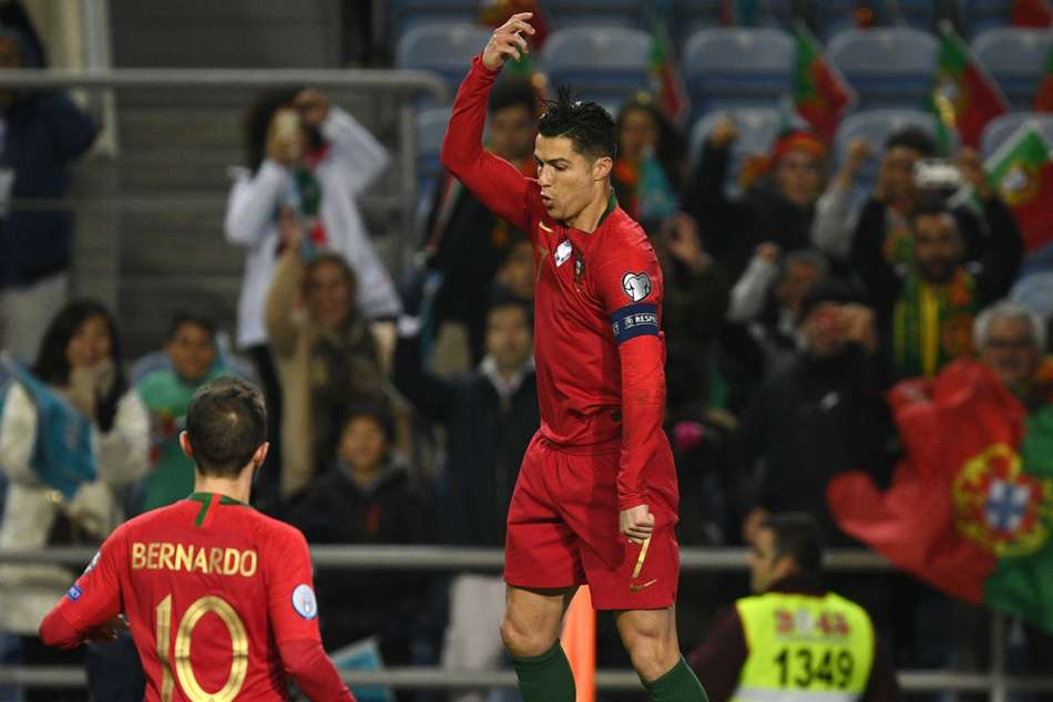 Portugal 6-0 Lithuania: Ronaldo scores hat-trick as holders close in on Euro 2020 spot