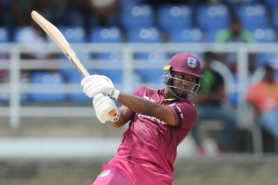 Evin Lewis plundered six sixes and four fours