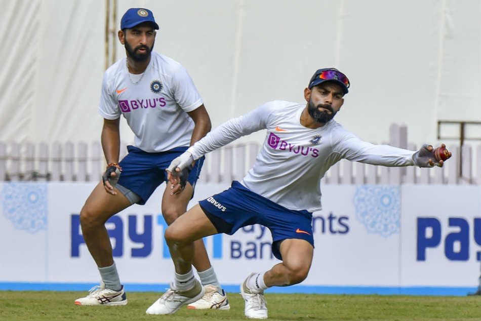 Virat Kohli Team India Train Under Lights Indore Ajinkya Rahane Pink Ball Test Eden Gardens