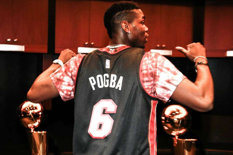 Man United's Pogba watches Butler & Heat in Miami