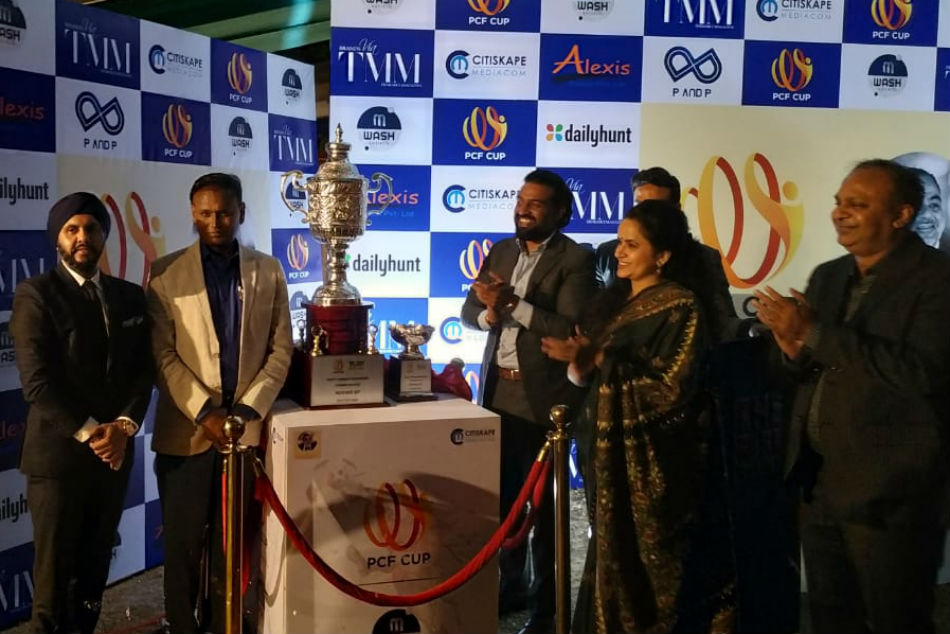 Countdown to PCF Cup-Football begins, trophy for corporate tournament unveiled in New Delhi