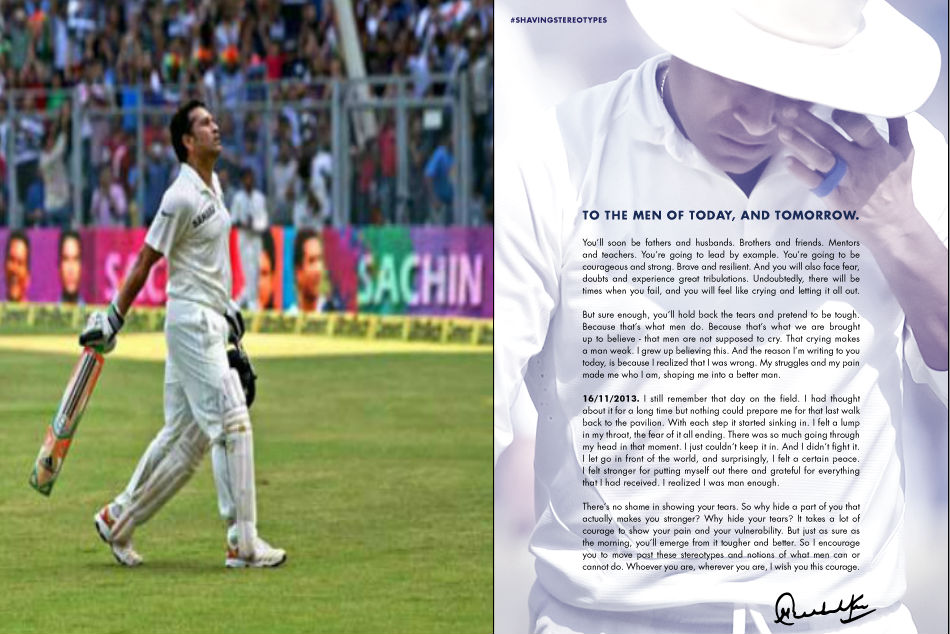 Sachin Tendulkar pens an open letter to the men of today, and tomorrow
