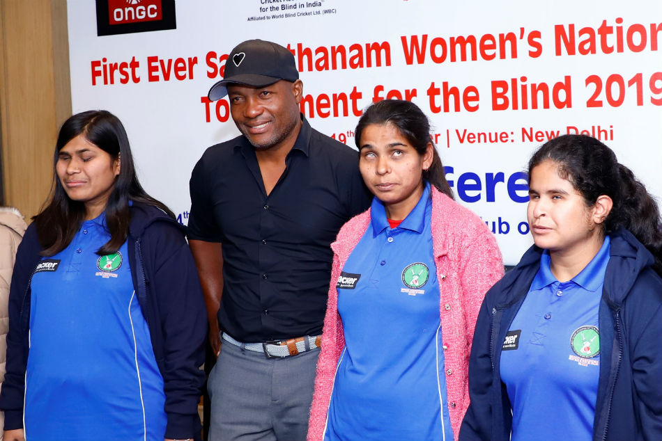 Brian Lara extends his support to Women's National Cricket Tournament for Blind, wishes visually impaired girls