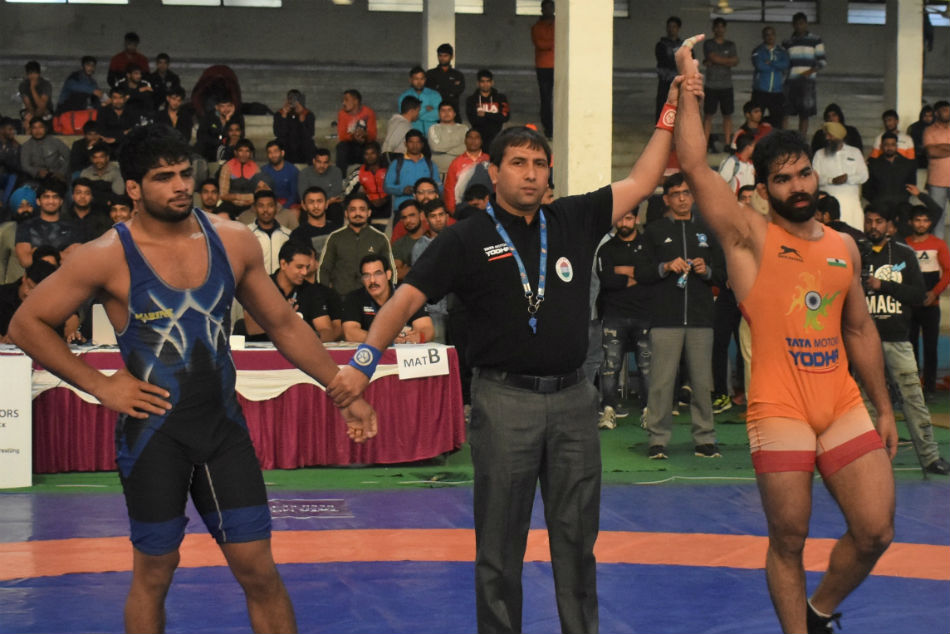Gurpreet Continues His Dominance At Tata Motors Senior National Wrestling Championships