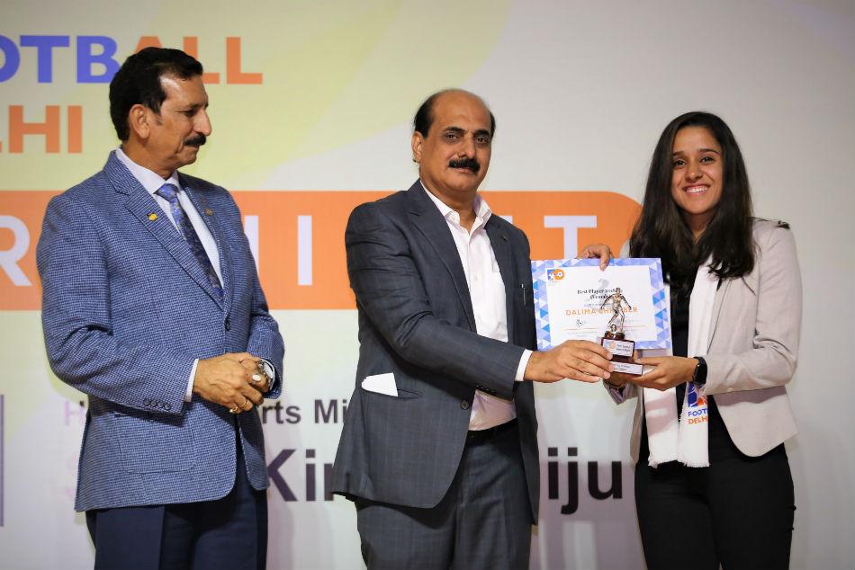 Football Delhi celebrates football for all with its first-ever Awards Night; Ayush Adhikari & Dalima Chibber awarded