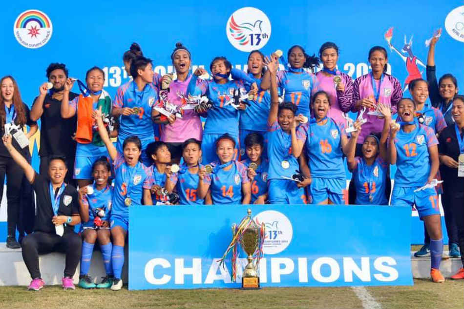 South Asian Games: Indian womens football team clinches third successive SAG gold, beats Nepal 2-0