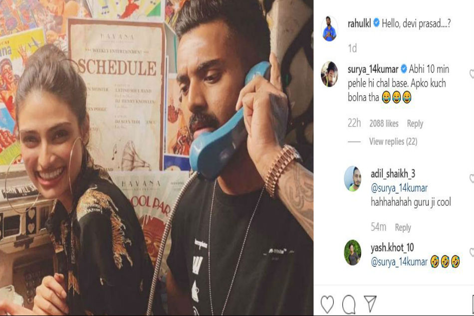 KL Rahul posts picture with Bollywood actor Athiya Shetty on ...