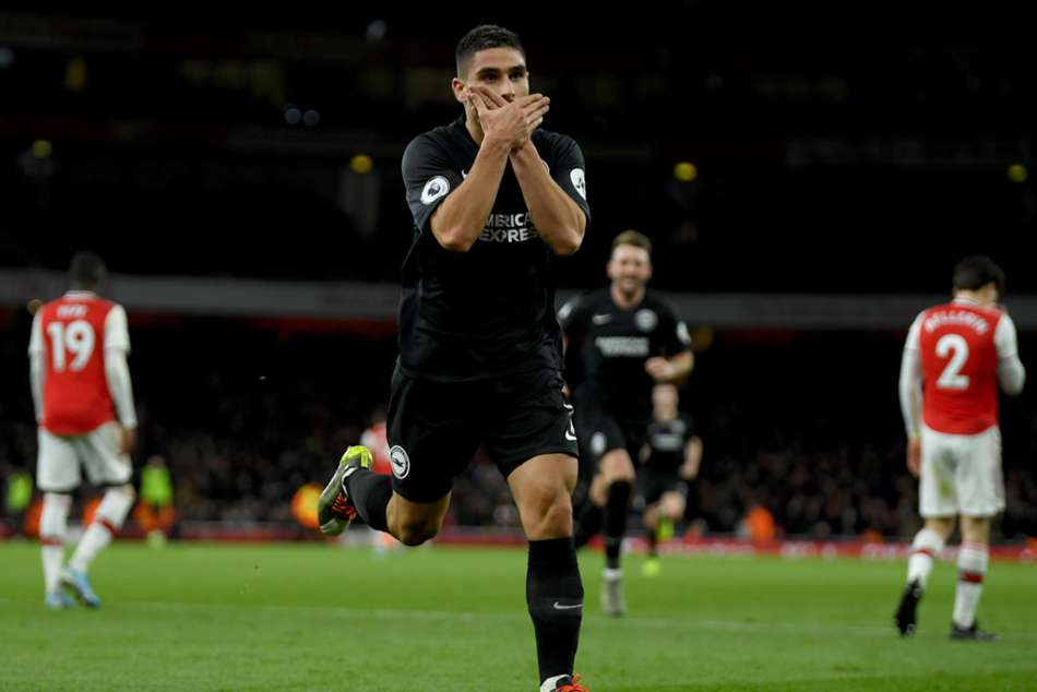 Arsenal 1-2 Brighton and Hove Albion: Maupay downs sorry Gunners