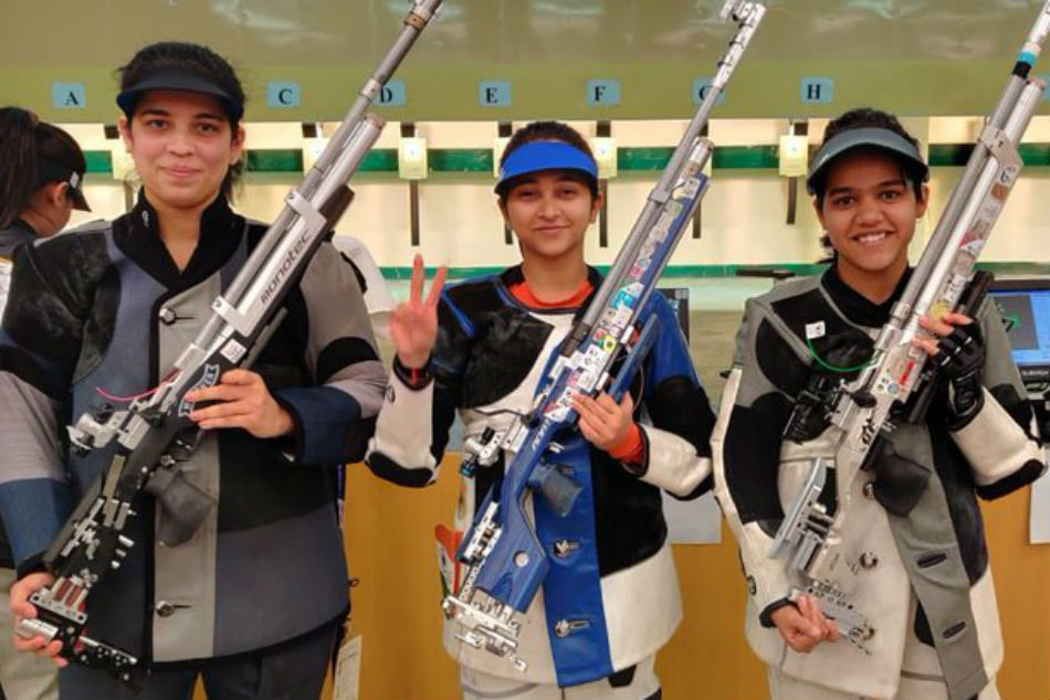 South Asian Games 2019: Mehuli Ghosh shoots 10m air rifle gold with world record score of 253.3; India sweeps all medals