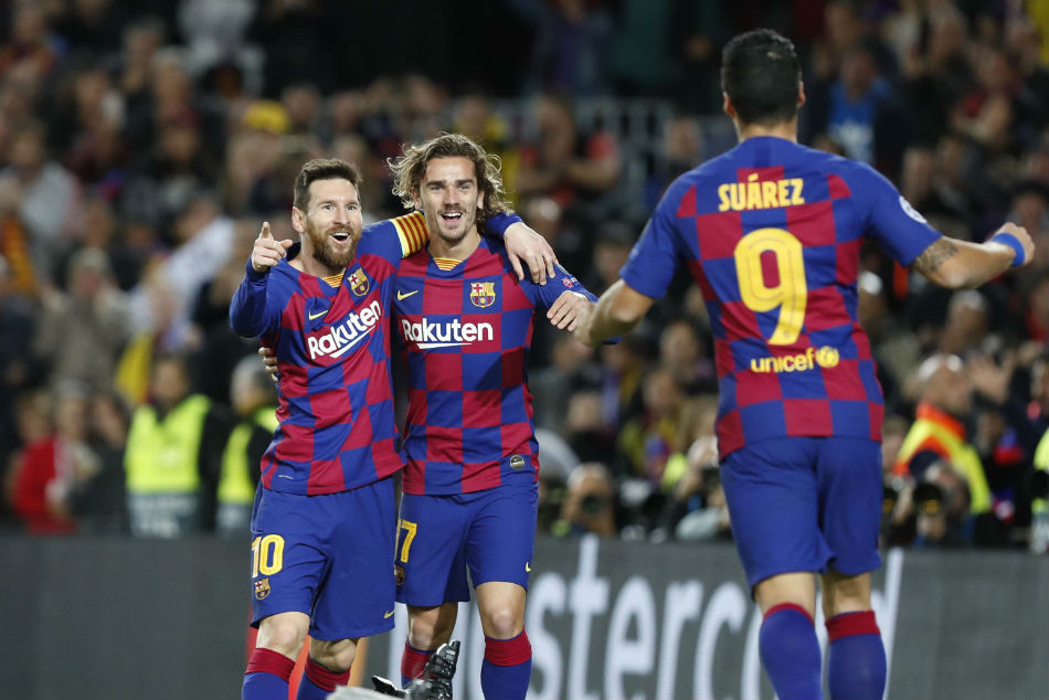 Forward trio of Lionel Messi, Luis Suarez and Antoine Griezmann were all on the scoresheet for Barcelona
