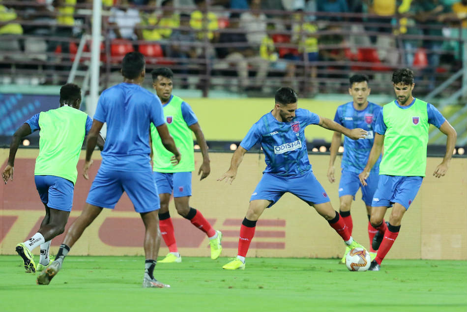 Odisha FC players go through the paces during a training session. Credit: ISL Media