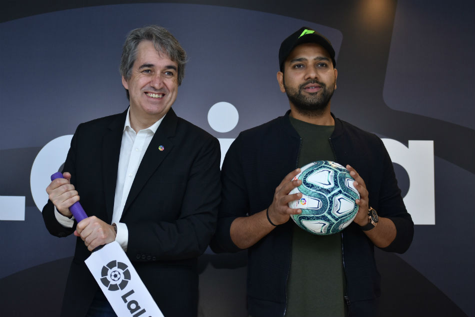 Rohit Sharma becomes LaLiga's first-ever non-footballer Brand Ambassador, to be the face of Spanish league in India