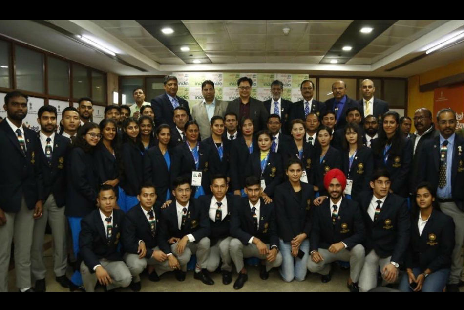 South Asian Games: Sports Minister Kiren Rijiju felicitates SAG medallists, announces cash rewards