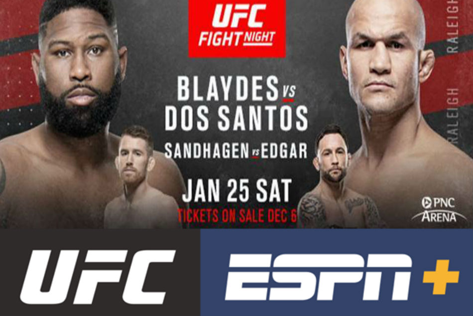 Blaydes vs Dos Santos to headline UFC debut in Raleigh, North Carolina