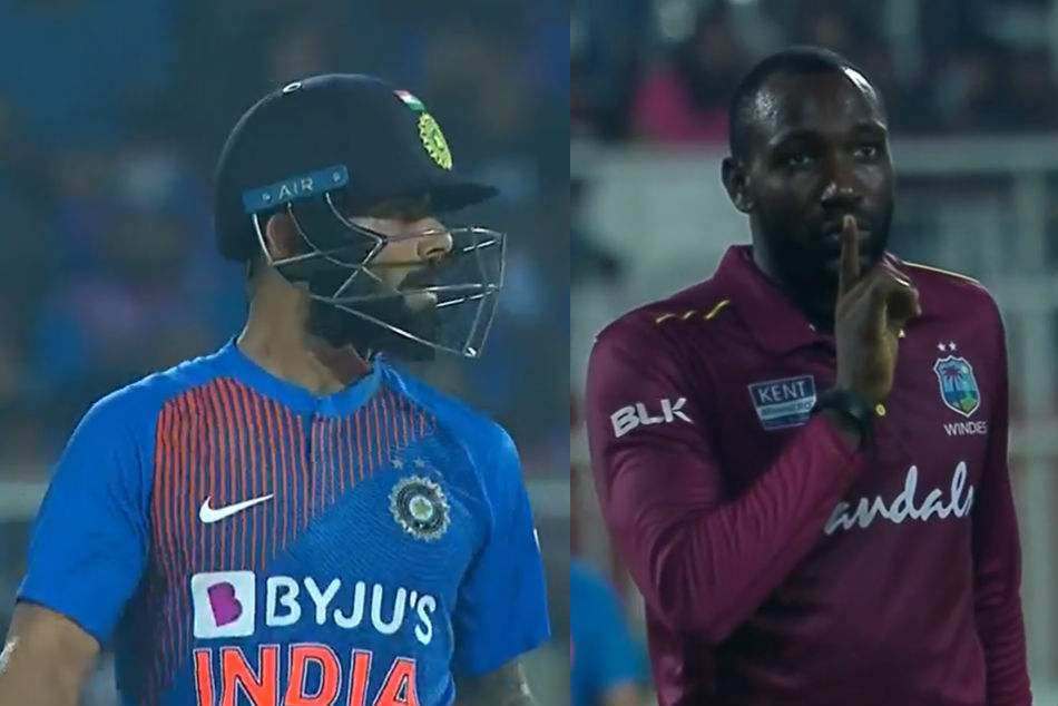 India Vs West Indies: Kesrick Williams gives a 'keep shut' send off to Virat Kohli after getting his revenge
