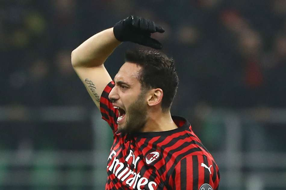 Hakan Calhanoglu came off the bench to score a brace