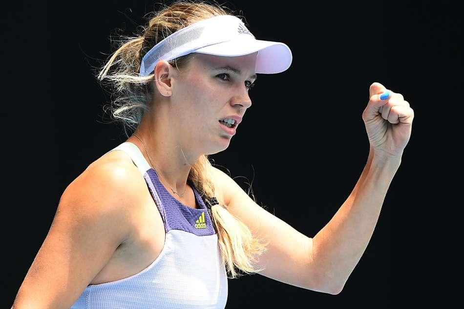 Australian Open 2020: Wozniacki avoids retirement with battling display
