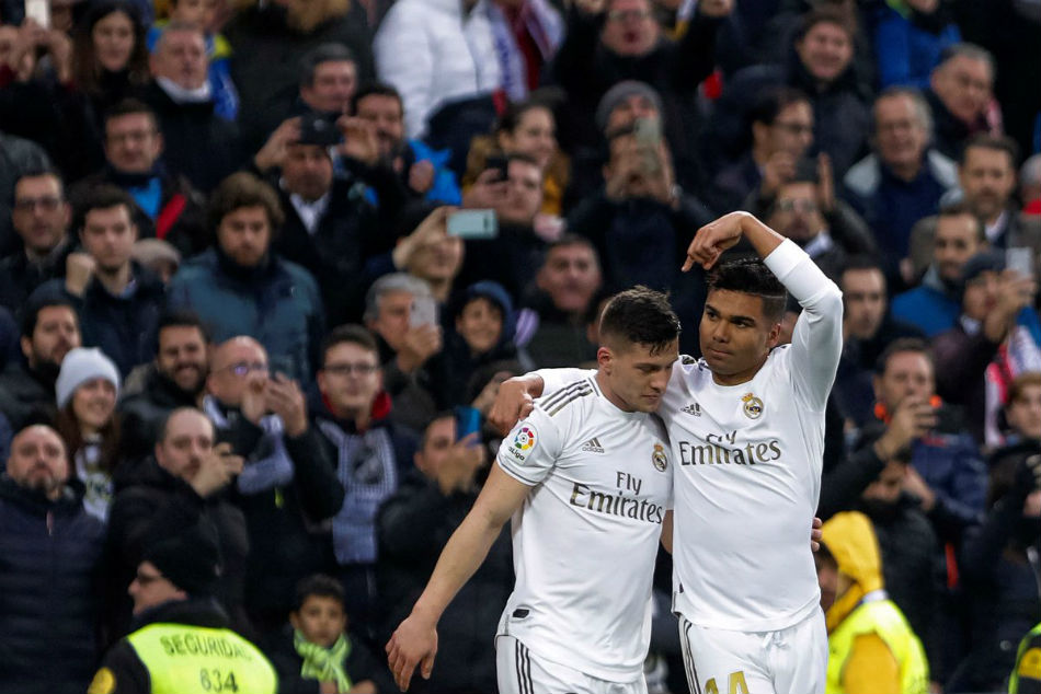 Casemiro (right) scored a brace for Real Madrid (Image Courtesy: Twitter)